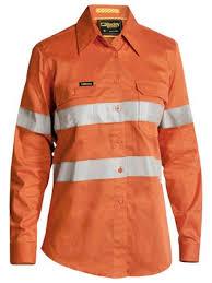 Bisley Size Chart Bisley 3m Taped Womens Hi Vis Industrial Cool Vent Shirt Bl6445t