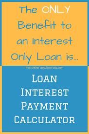 Interest Only Loan Calculation Loan Interest Payment Calculator Current Finance Charge Due