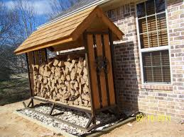 ideas small outdoor wood rack with cover outside plans storage marvelous holder firewood diy