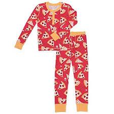 Munki Munki Kids 2 Piece Pajama Set Pizza Size 3 Amazon