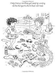 Small Picture Fancy Nancy Coloring Pages 20405