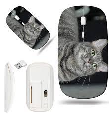 Wireless Mouse Cat Design Amazon Com Luxlady Wireless Mouse White Base Travel 2 4g