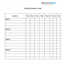 Monthly Reward Chart Template Sticker Behavior Charts Lovetoknow
