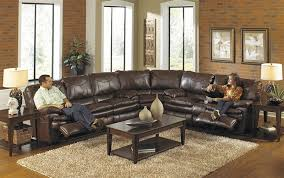 leather reclining sectional.  Leather For Leather Reclining Sectional L