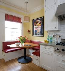 Kitchen Sofa Furniture Furniture Sparkling Breakfast Nook Design Idea With Red Sofa