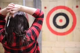 indoor axe throwing. indoor axe throwing o
