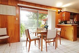 mid century modern kitchen white. Mid Century Modern Kitchen Cabinet Doors White Ceramic Backsplash Painted Wooden Cainets Rectangle Hardwood Plank