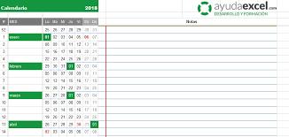 formato cronograma de actividades mensual plantillas calendario en excel 2018 ayuda excel