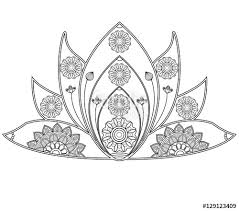 Vector Illustration Of Mandala Lotus Flower For Coloring Book Fiore