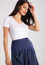 Majestic Basic T Shirt Blanc Women Discount Sale Majestic
