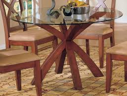 dining room cool dining room design with glass round dining table feat wooden base also high