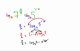 solve log equation with diffe bases