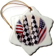 Light Rx Indianapolis 3drose Orn_90263_1 Indianapolis Motor Speedway Flags Jaynes Gallery Snowflake Decorative Hanging Ornament Porcelain 3 Inch