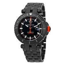 versace watch versace v race diver automatic black dial mens watch val01 0016