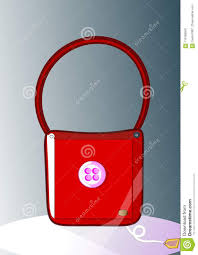 Latest Button Design Red Leather Bag With Button Stock Image Illustration Of
