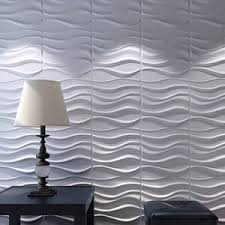 A21031 - 3D Wall Panels Plant Fiber White for Interior Decor 12 Pcs 32 Sq.