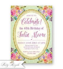 Invitaciones Fiesta Invitaciones De Cumpleaños Adultos Invitaciones Fiestas Etsy