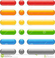 Colored Web Button Set Stock Vector Illustration Of Forward