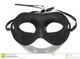 Black Fancy Party Mask On White Background Stock Photo Image Of