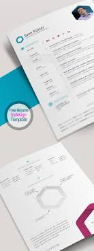 Free Indesign Resume Templates Picture Ideas References