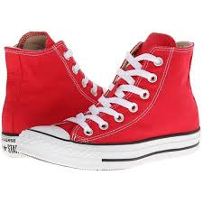 converse shoes red. converse chuck taylor all star hi high tops red shoes sneakers men 6 women 8