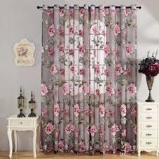 Sheer Curtains Living Room 270cm X 100cm Sheer Curtains Door Room Flower Tull Window