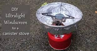 diy ultralight windscreen for canister