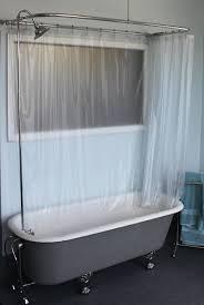 circular shower curtain rail wall ceiling fix chrome