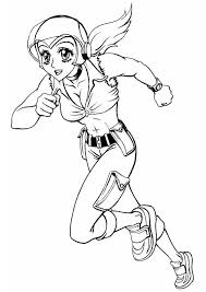 Small Picture Coloring page running girl img 8839