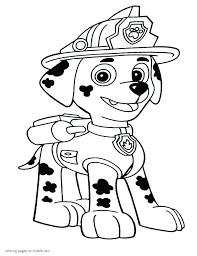 Paw Patrol Coloring Sheets Chase Free Pages Rubble Of And Pat As