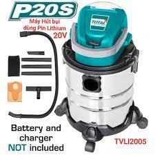 Máy hút bụi 20L dùng pin Lithium‑Ion 20V TVLI2005 Total