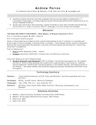 Resume Examples For Pharmacy Technician Of Resumes Computer Network