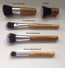 blush setting brush was amazing for setting under eye concealer the kabuki isn t dense enough to use all over your face