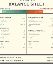 balance sheet template download opening day balance sheet template for free tidyform