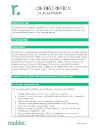 Sales Associate Qualifications Sales Associate Job Description Template Roubler Australia