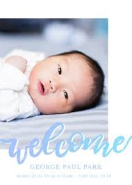 Baby Boys Birth Announcement Templates Personalized Baby Boy Cards