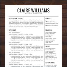 Cv Template Free Download Word Resume Example
