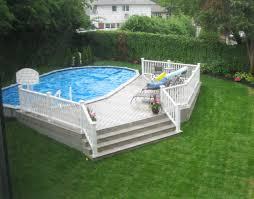 interesting inground 18x33 semi inground pool with deck in inground pool deck r