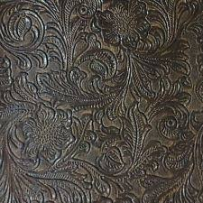 Patterned Vinyl Upholstery Fabric Interesting Faux Tooled Leather Upholstery Vinyl Fabric Laredo Mink EBay