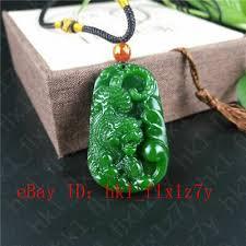 fashion green jade tiger pendant