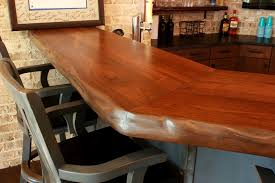 live edge wood bar top