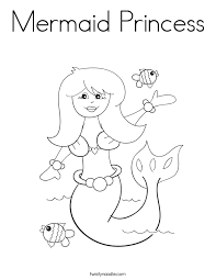 Small Picture Mermaid Princess Coloring Page Twisty Noodle