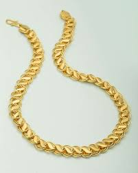 designer mens chains wheat designer chain for men in yellow gold voylla