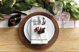 Christmas-inspired place setting for a casual meal