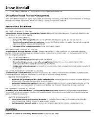 Management Resume Samples It Asset Management Resume Sample Asset