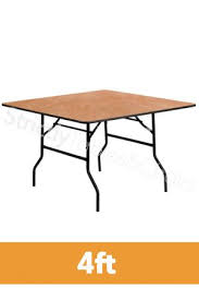 6ft x 4ft plywood folding trestle table