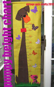 Puppy Height Chart Virtage Gets Crafty Puppy Height Chart