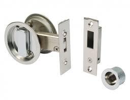 satin stainless steel round sliding door bathroom hook lock