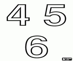 Kleurplaat Cijfers 4 5 En 6 Kleurplaten