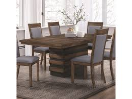 Coaster Octavia 107391 Dining Table With Hidden Storage In Base